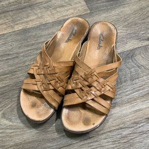 Clark's sandals with wedge heel